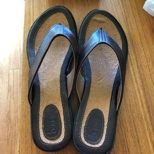 B.O.C. All leather Flip Flops.